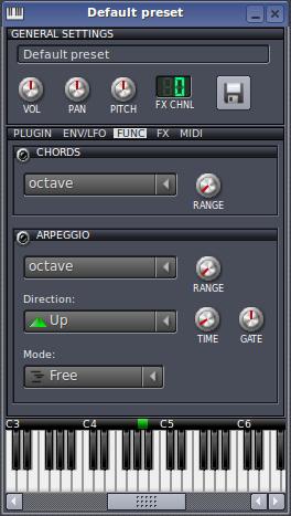 FUNC - akordy i arpeggia   LMMS - Linus MultiMedia Studio