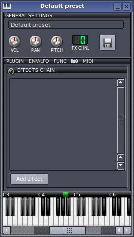 FX - punkt insertowy   LMMS - Linux MultiMedia Studio