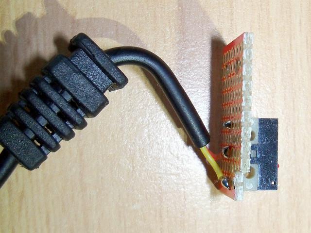 Połączenie przewodu z mikroprzełącznikiem | Pedał sustain DIY