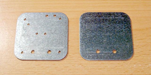 Po lewej płytka spodnia po prawej - wierzchnia | Pedał sustain DIY