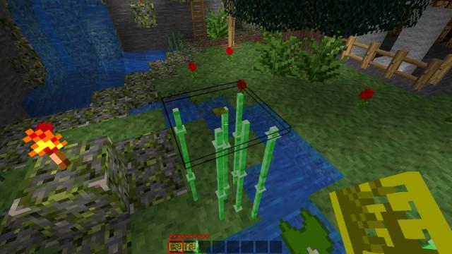 Zrzut ekranu obrazujący Plant Trimmera jako płaską tabliczkę | Minetest - Mod Plant Trimmer