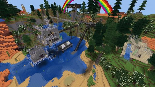 Minetestowe miasteczko autora | Minetest - Otwarty klon Minecraft