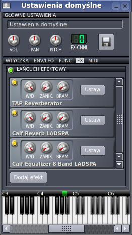 Pętla efektowa modyfikująca brzmienie Kickera