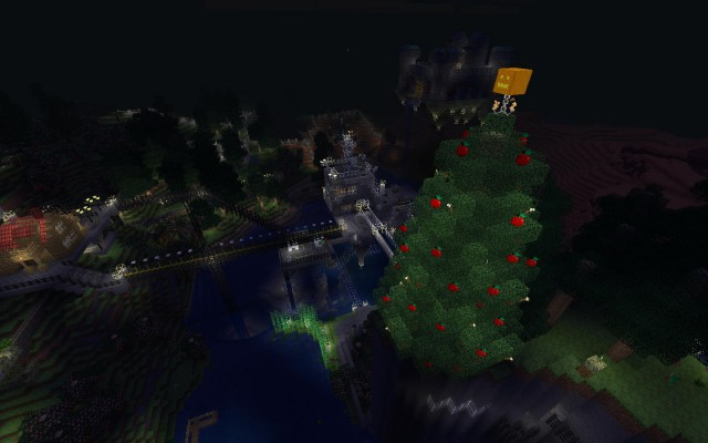 Minetest Christmass tree