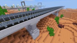 Betonowy most ze stalowymi barierkami